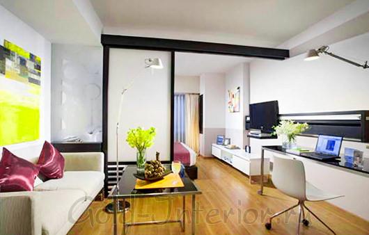 Перегородка в однокомнатной квартире-студии