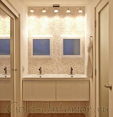Песочный оттенок в ванной