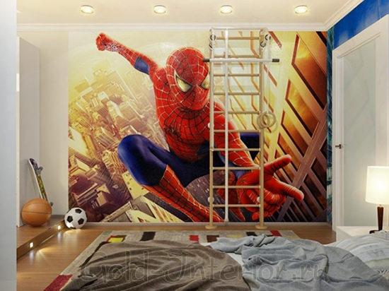 Плакат человека-паука в детской