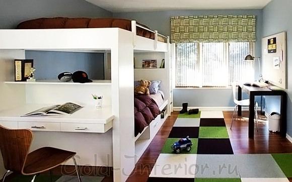 Планировка пространства в подростковой комнате мальчика