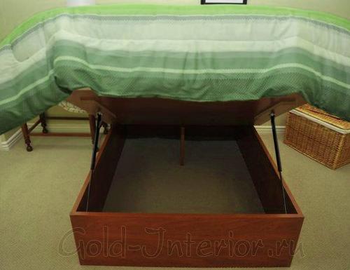 Подъёмный матрас кровати для хранения вещей