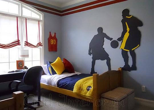 Подростковая комната в баскетбольном стиле