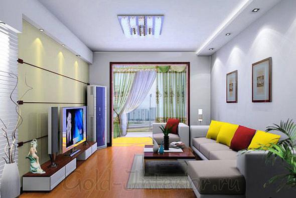 Подсветка в гостиной комнате
