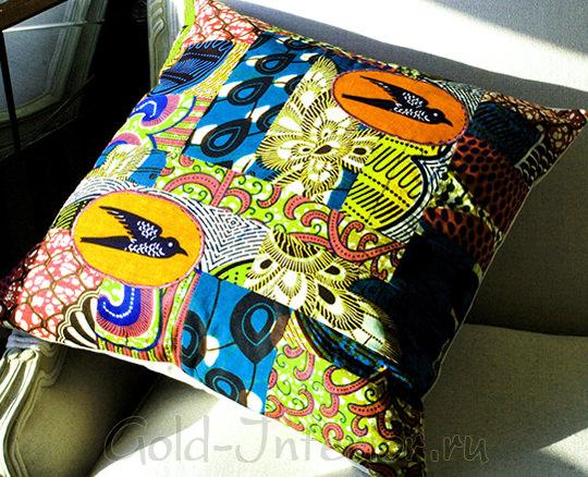 Подушка в африканском стиле своими руками
