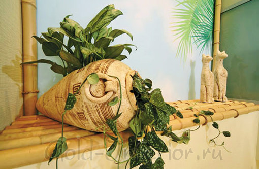 Полка из бамбука