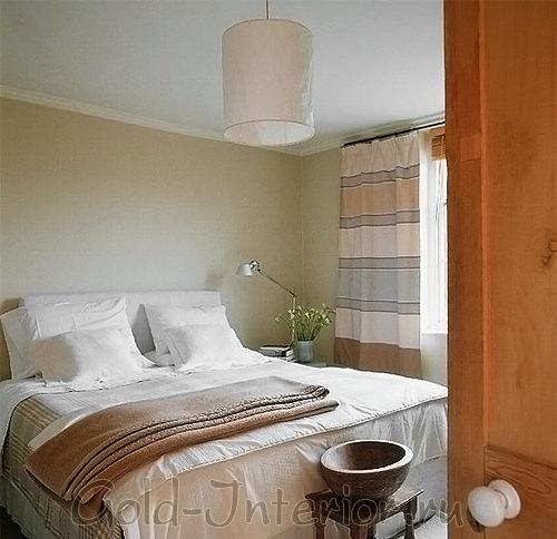 Потолочный абажур в спальне