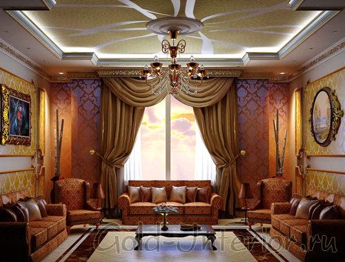 Гипсокартоновый потолок в современном арабском стиле