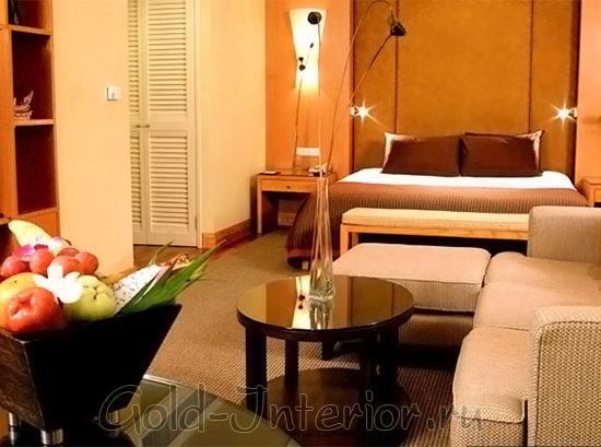 Пример настенного освещения для гостиной в хрущёвке