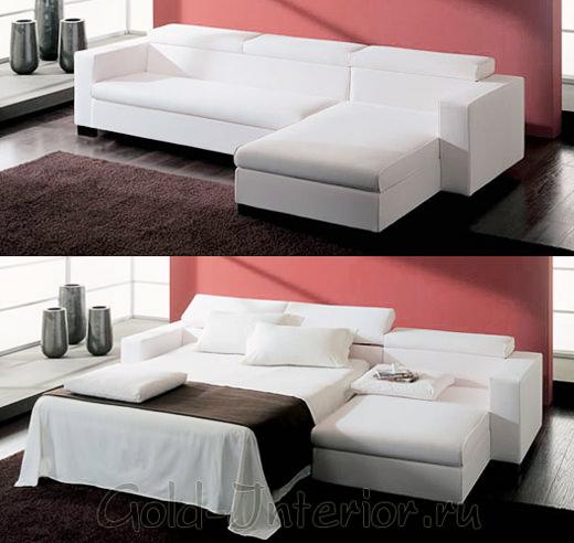 Раскладной диван для интерьера маленькой хрущёвки