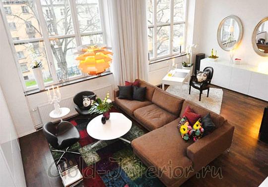Расстановка мебели в ограниченном пространстве гостиной