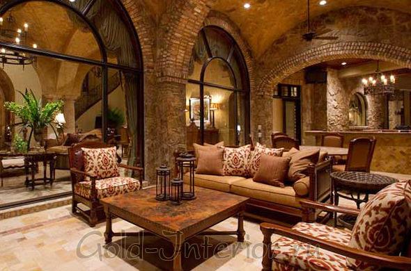 Романский стиль в интерьере дома