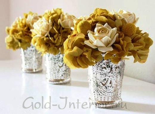 Розы горчичного цвета