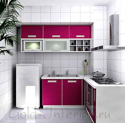 Розовая плёнка на дверцах гарнитура
