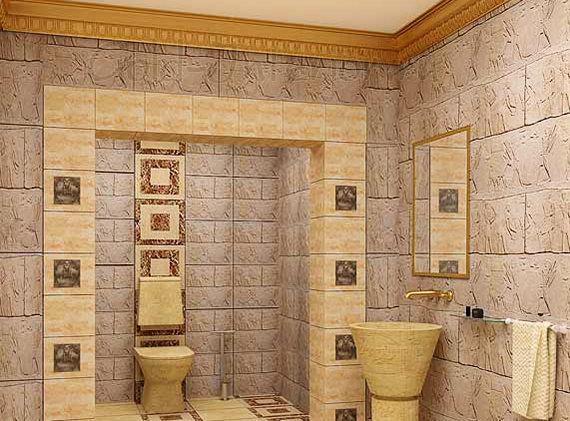 Санузел в египетском стиле
