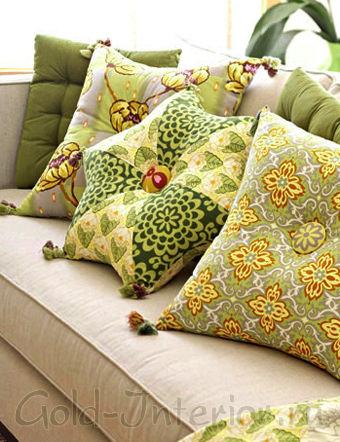 Декоративная шестиугольная подушка своими руками