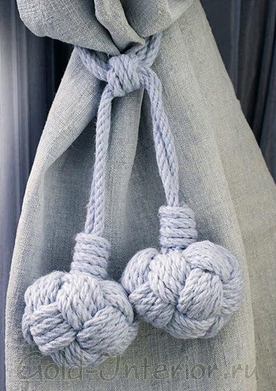 Шнуры-бечёвки: подхваты для занавесей
