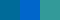 Сине-фиолетовый, синий, сине-зелёный