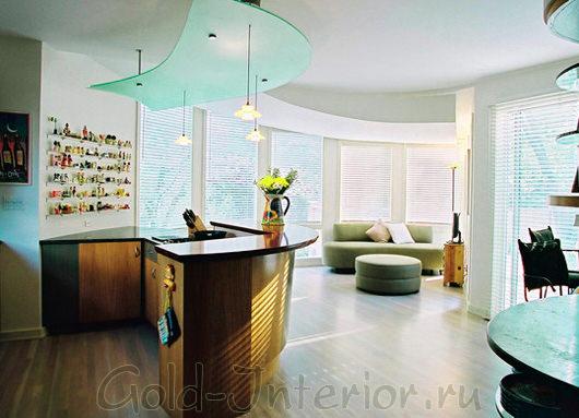Сочетание фисташкового дивана с элементами интерьера мятного цвета