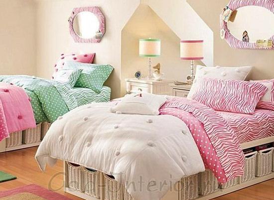 Спальная комната для двух девочек