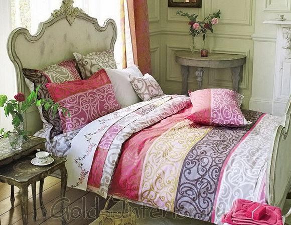 Спальная комната в стиле женственный арт-нуво