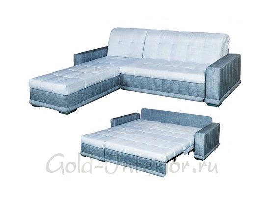 Спальный угловой кухонный диван с механизмом аккордеон