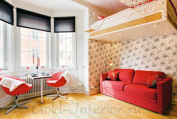 Спальное место на антресоли - вариант для маленьких комнат