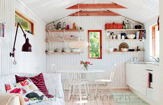 Спальное место в интерьере кухни