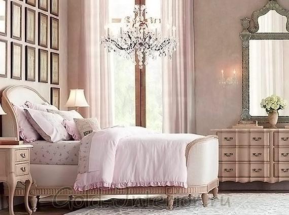 Спальня 12 кв метров в винтажном стиле