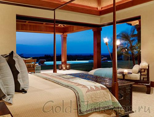 Спальня с видом на пророду