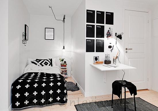 Спальня в нише в дизайне малогабаритной однушки