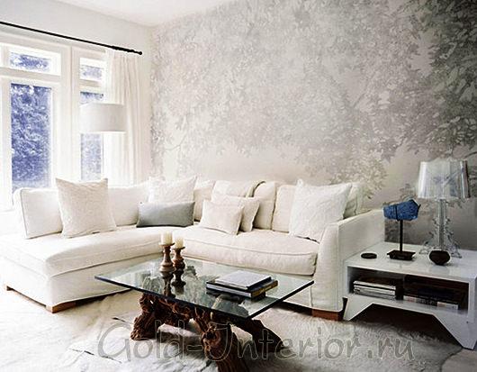 Спокойный безмятежный интерьер в белом цвете
