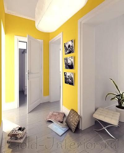 Стены в прихожей канареечного цвета
