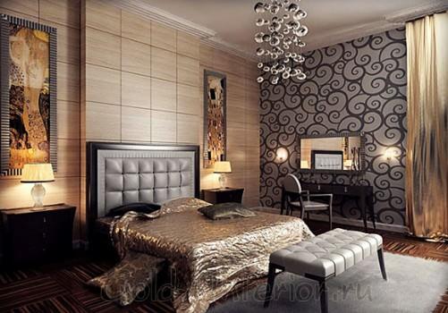 Стиль арт-деко в интерьере спальни