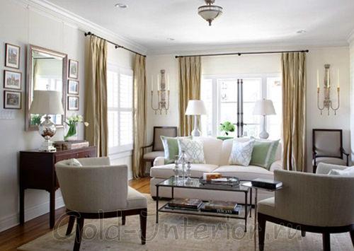Стиль классики на новый манер для маленькой гостиной