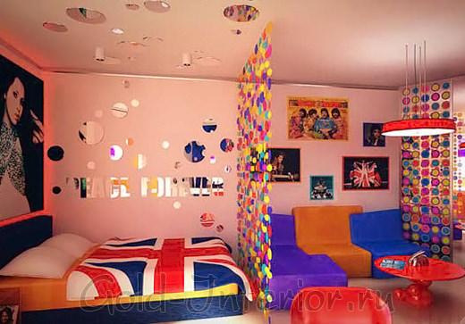 Стиль поп-арт в комнате подростка