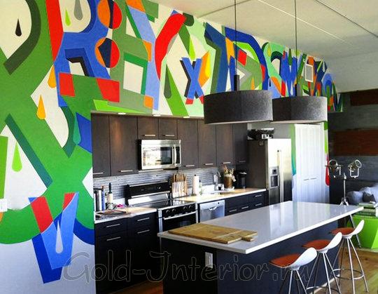 Стиль поп арт в интерьере кухни