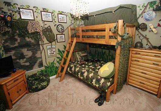 Стилизованная комната для мальчика 6-9 лет