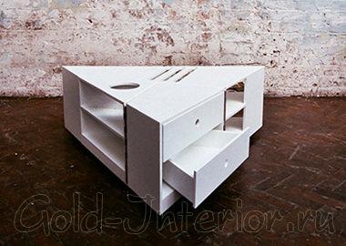 Стол-трансформер с выдвижными ящиками
