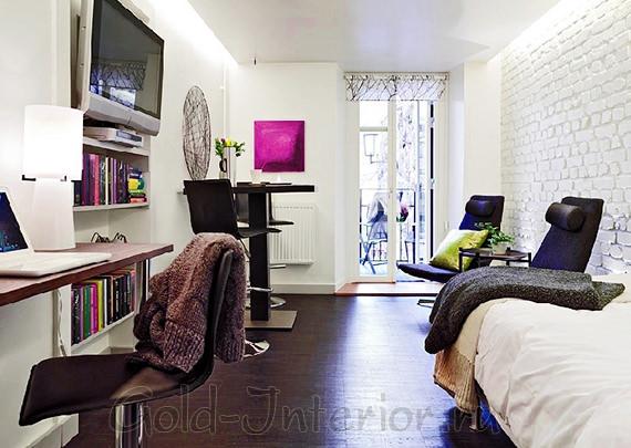 Столик-консоль в однокомнатной малогабаритной квартире