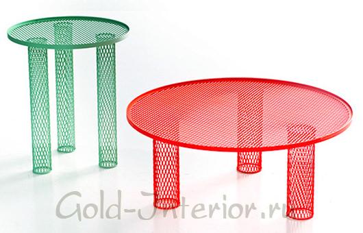 Столики из металлической сетки
