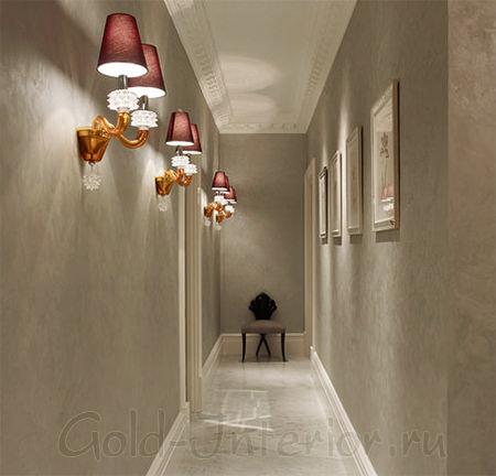 Светильники в стиле модерн в прихожей