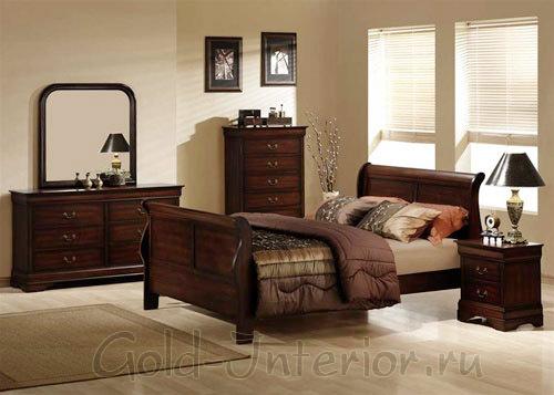 Светлые и тёмные оттенки коричневого в интерьере спальни