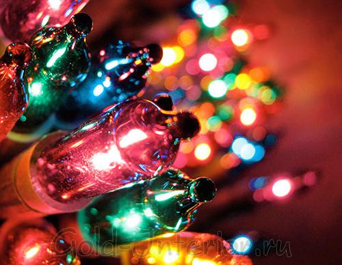 Светодиодная гирлянда для новогоднего декора
