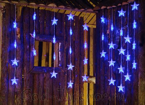Светодиодная гирлянда звёздочки