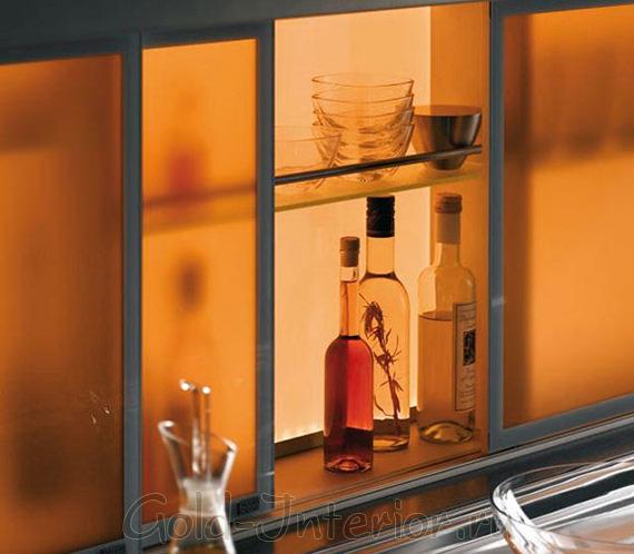 Светодиодная лента в кухонных шкафах
