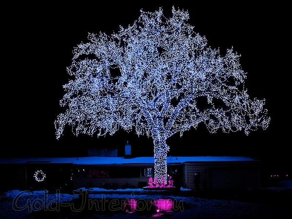 Светодиодные гирлянды для деревьев