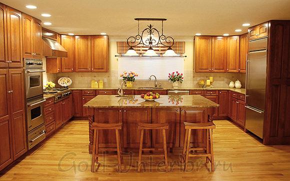 Светодиодные лампы в интерьере кухни