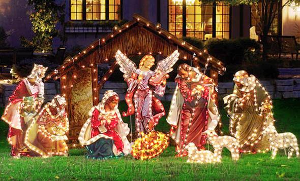 Светодиодный твинкл лайт в декоре рождественской декорации