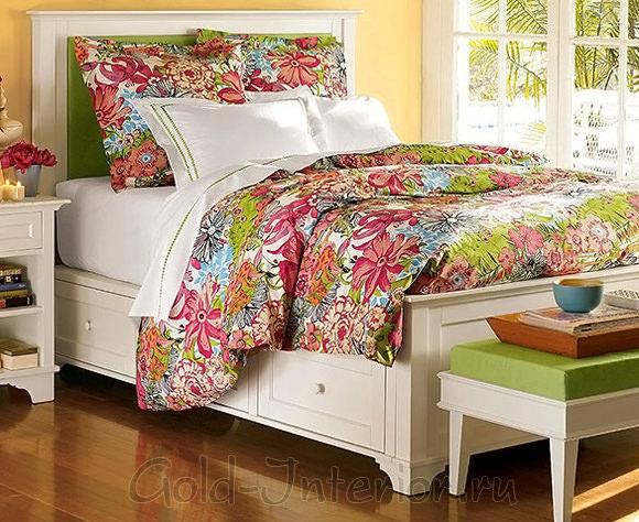 Текстиль для современной спальной комнаты