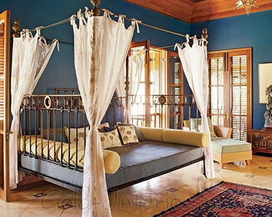 Текстиль и аксессуары в колониальном стиле